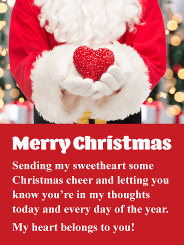 My Heart Belongs To You Romantic Merry Christmas Card Birthday Greeting Cards By Davia Merry Christmas My Love Merry Christmas Card Merry Christmas Wishes
