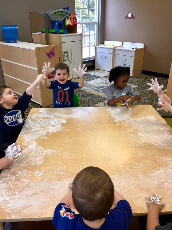 A windy, rainy day calls for a fun sensory activity ...