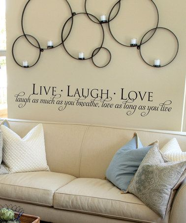 Black Live Laugh Love Wall Quote Zulily Design Wall Quotes Love Wall