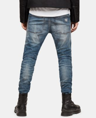 G Star Raw Mens 3D Straight Fit Tapered Jeans DarkAged
