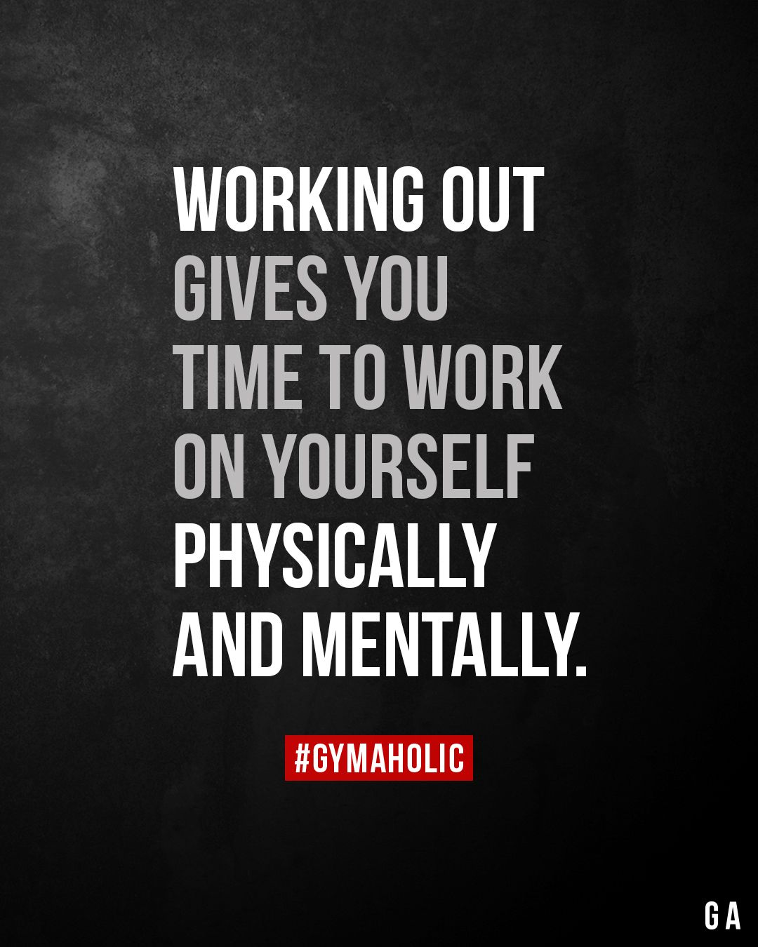 Working Out Gives You Time To Work On Yourself Physically And Mentally Fitness Motivation Quotes Motivation Fitness Quotes
