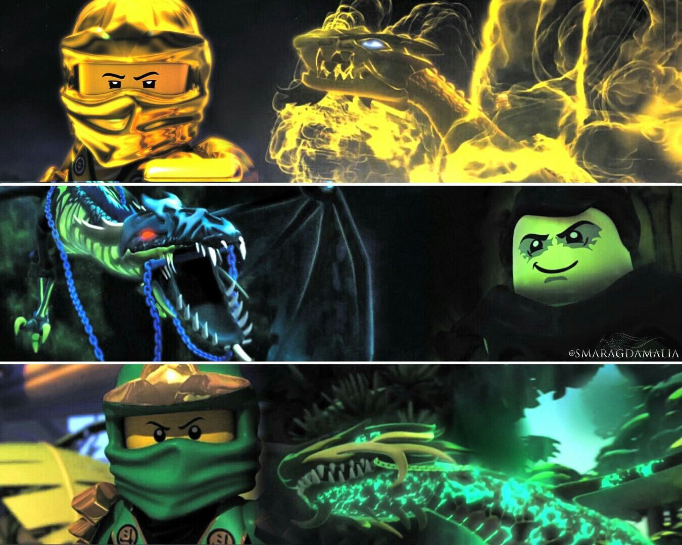 lego ninjago • lloyd morro • greenninja goldenninja