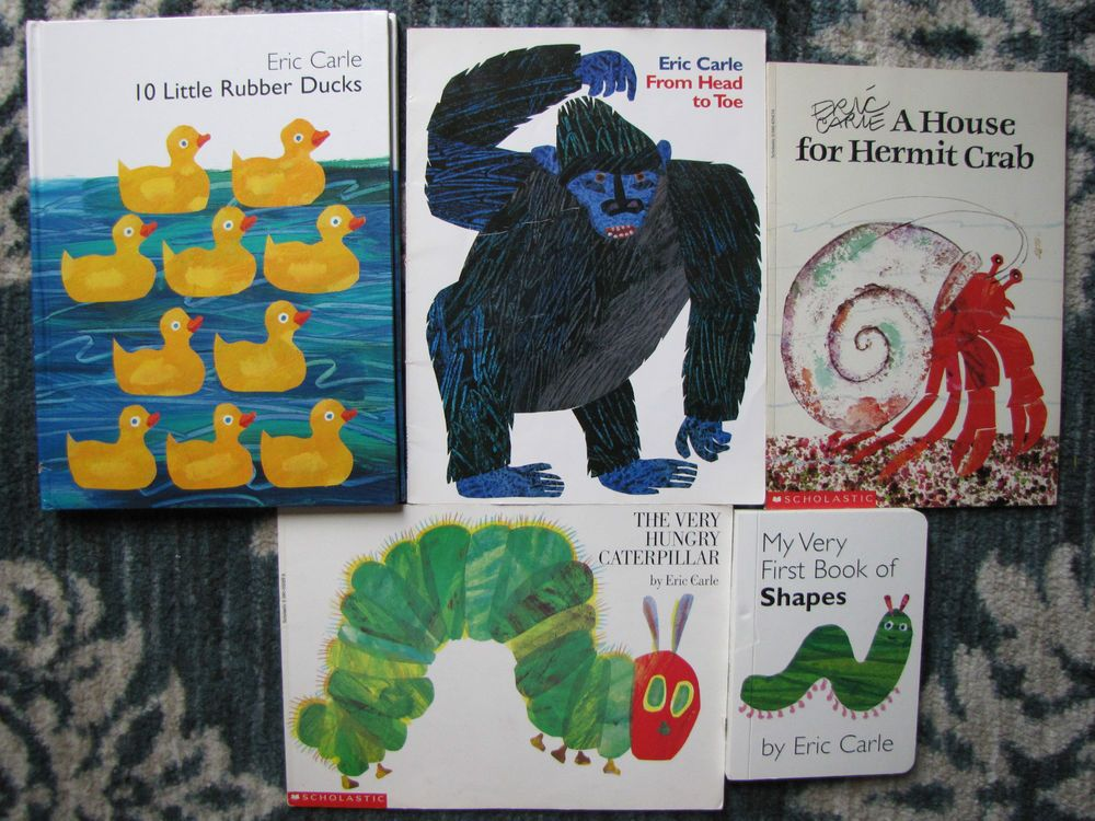 Eric carle lot 5 board picture books vg 10 little rubber ducks from eric carle lot 5 board picture books vg 10 little rubber ducks from head to toe fandeluxe Image collections