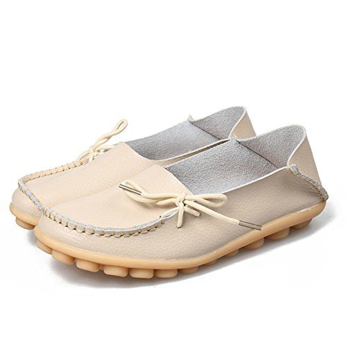 a2e2756b473 Fashion brand best show Women s Leather Loafers Flats Casual Round Toe  Moccasins Wild Breathable Driving Shoes