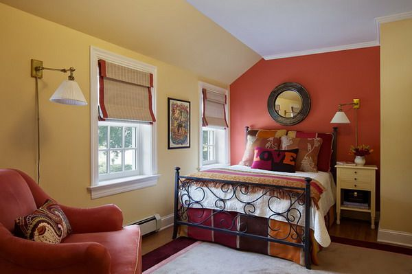Eclectic Bedroom Design with Red Color and Yellow Colors The Glam of Red for Your Bedroom Decorating Ideas & Eclectic Bedroom Design with Red Color and Yellow Colors The Glam of ...