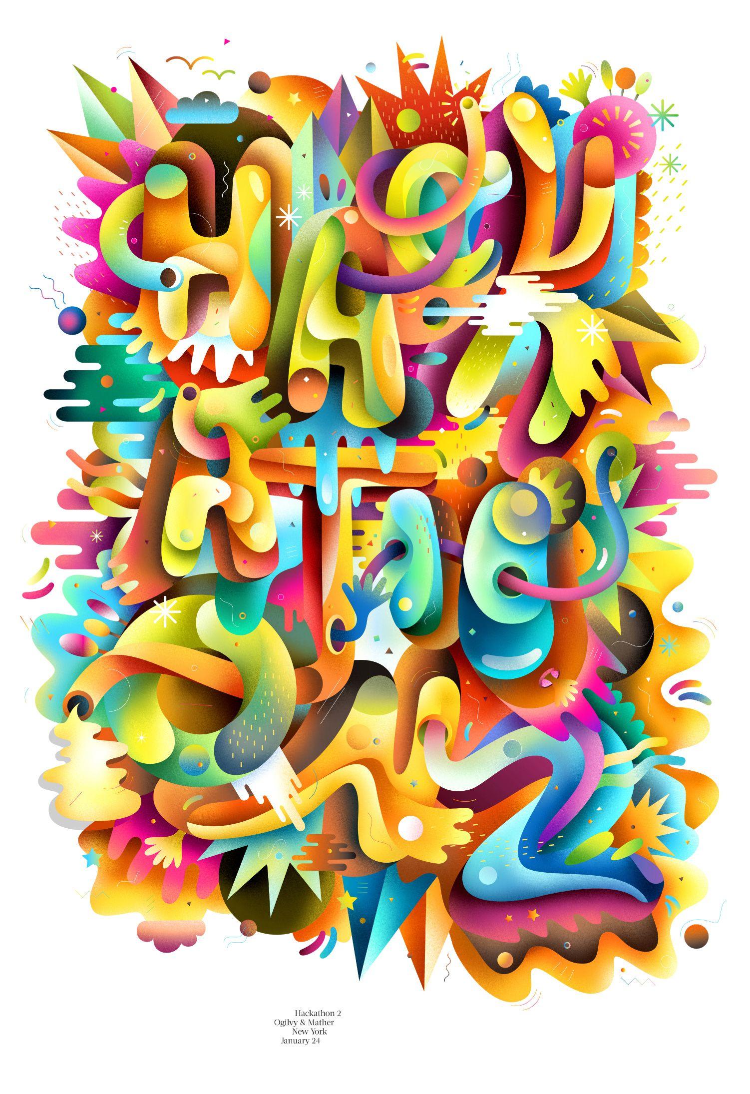 Poster design article - Hackathon Two Poster By Matt Luckhurst