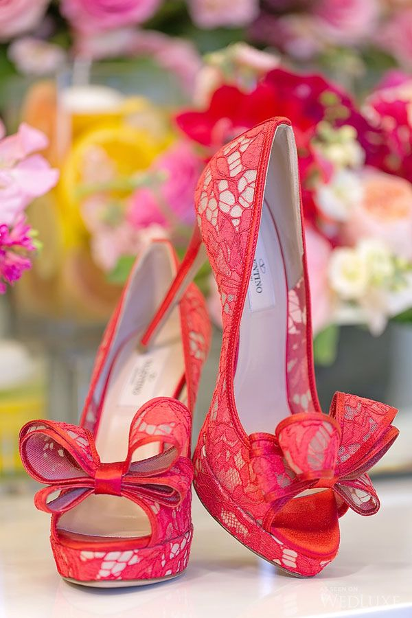 Red lace Valentino shoes | Photography by: Melanie Rebane Photography