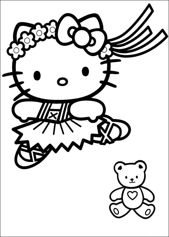 Kleurplaten Hello Kitty Inkleuren.Kleurplaten Hello Kitty Prinses Kleurplaat Hello Kitty Princess