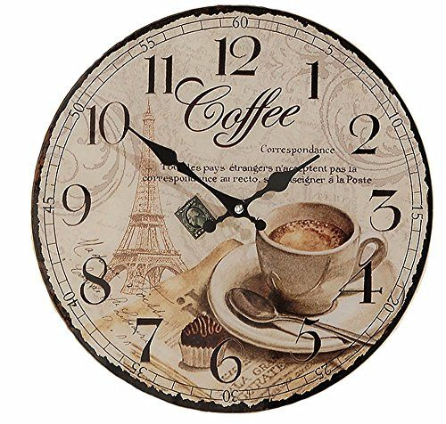 Tres Belle Vintage Paris Eiffel Tower Coffee Themed Wall