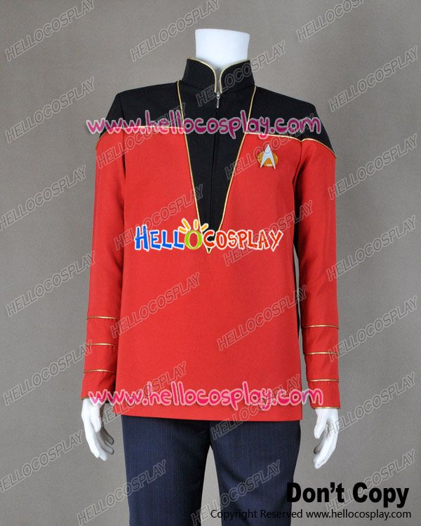 Star Trek Admiral Black Red Uniform Jacket Costume : admiral jacket costume  - Germanpascual.Com