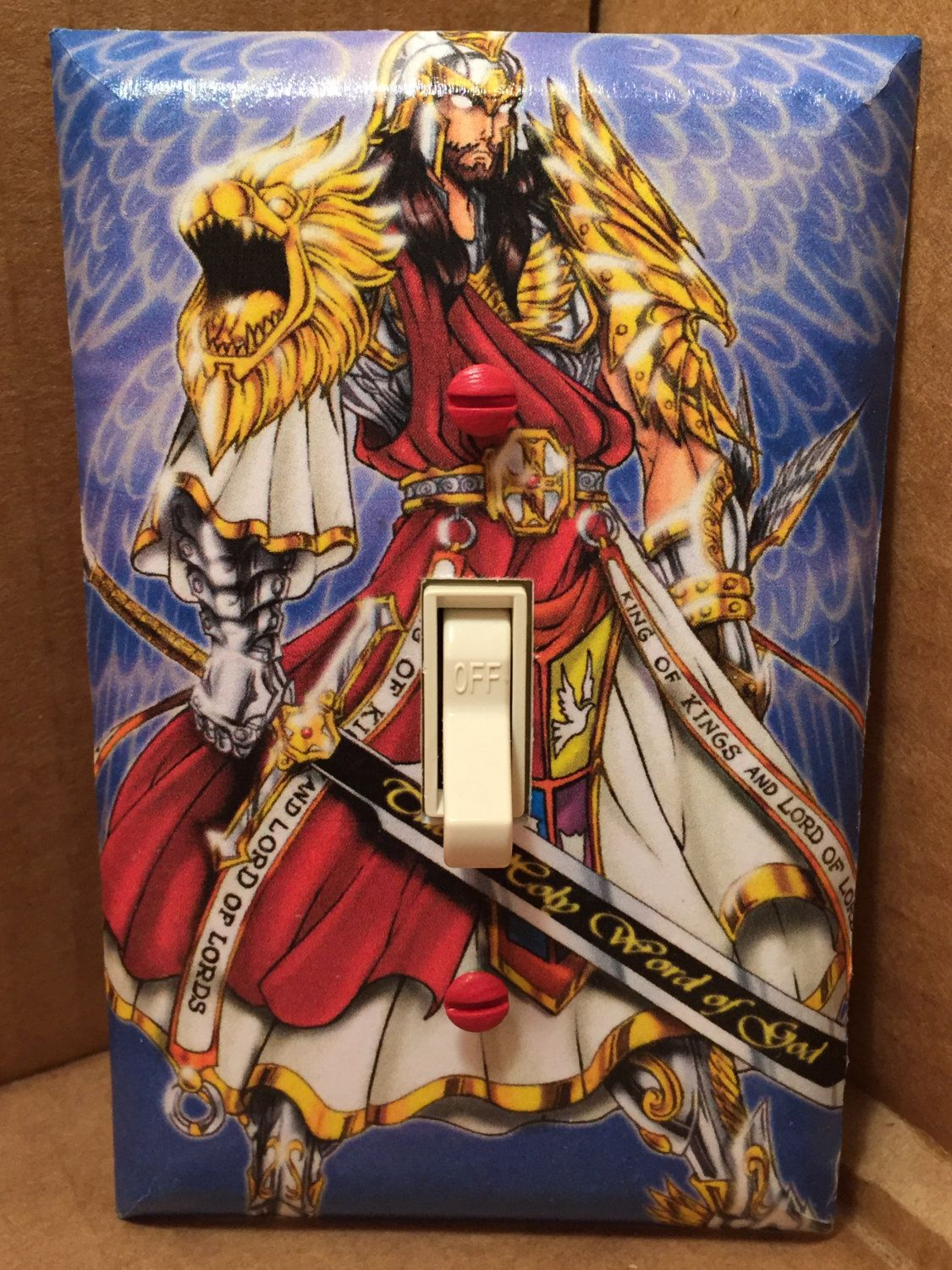 Jesus Christ Warrior Light Switch Cover Handmade Son Of God