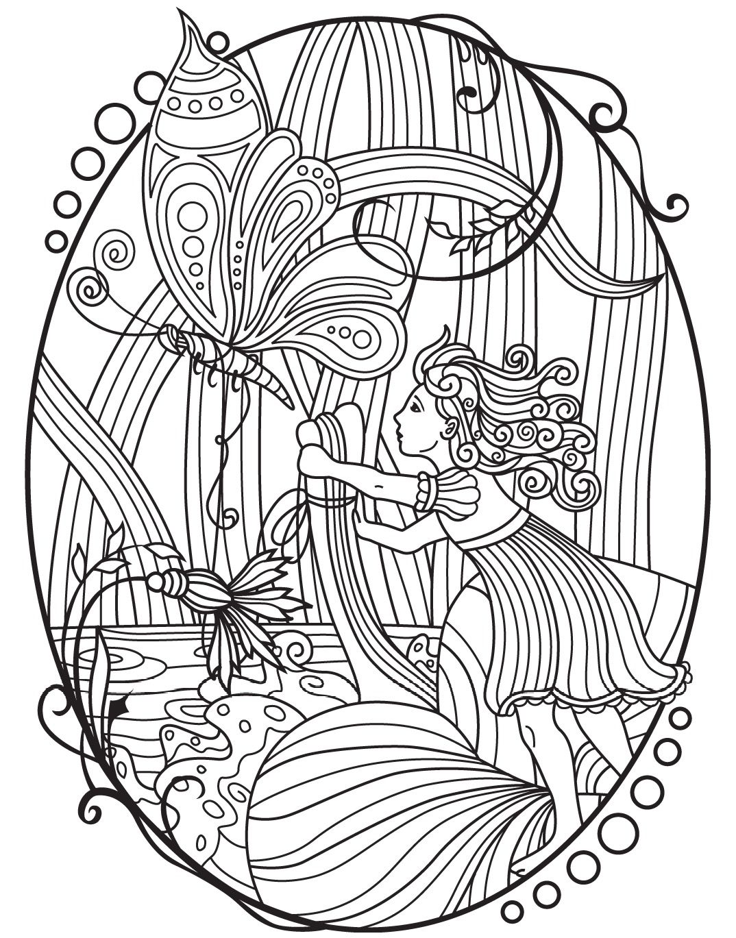 Fairytales Colorish coloring book app for adults by GoodSoftTech