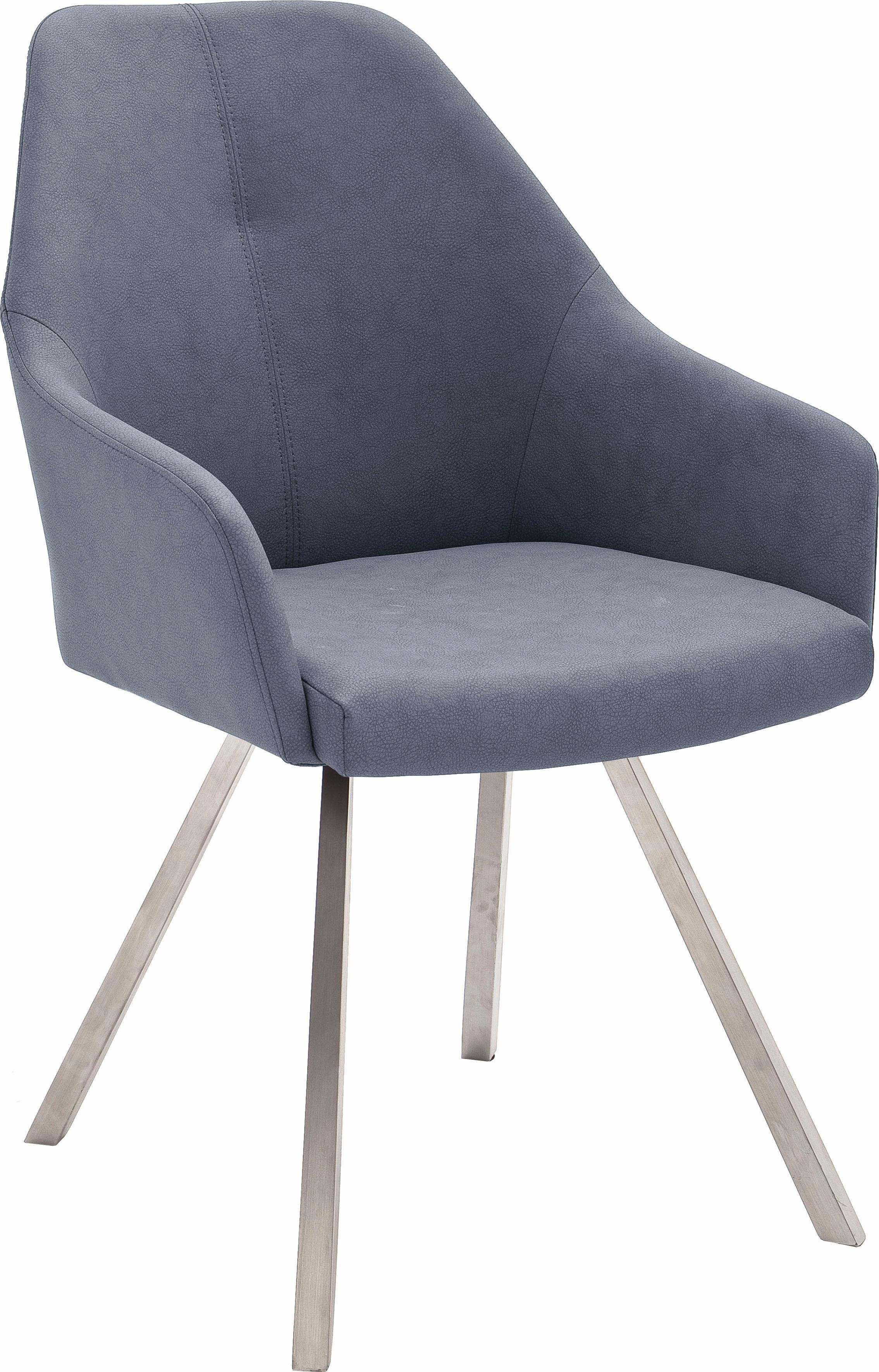 Stühle (2 Stück) blau, 4-Fuß Stuhl eckig, pflegeleichtes ...