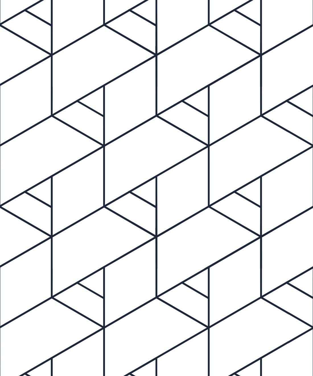 Kaleidoscope Wallpaper • Black & White Geometric
