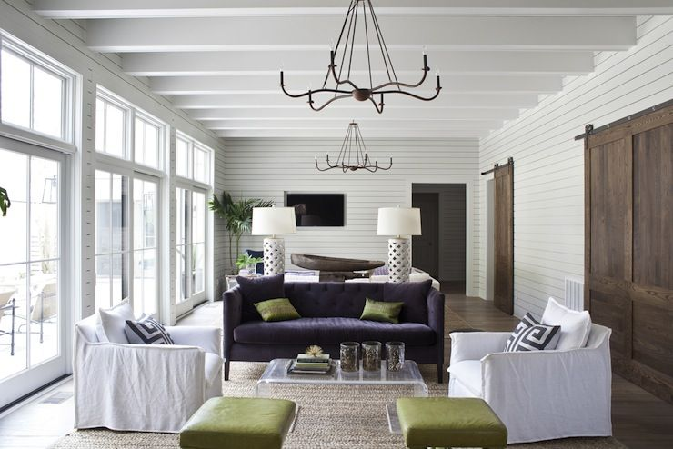 Heather A Wilson Architect Chic Living Room Split Into Two Distinct Spaces Wall