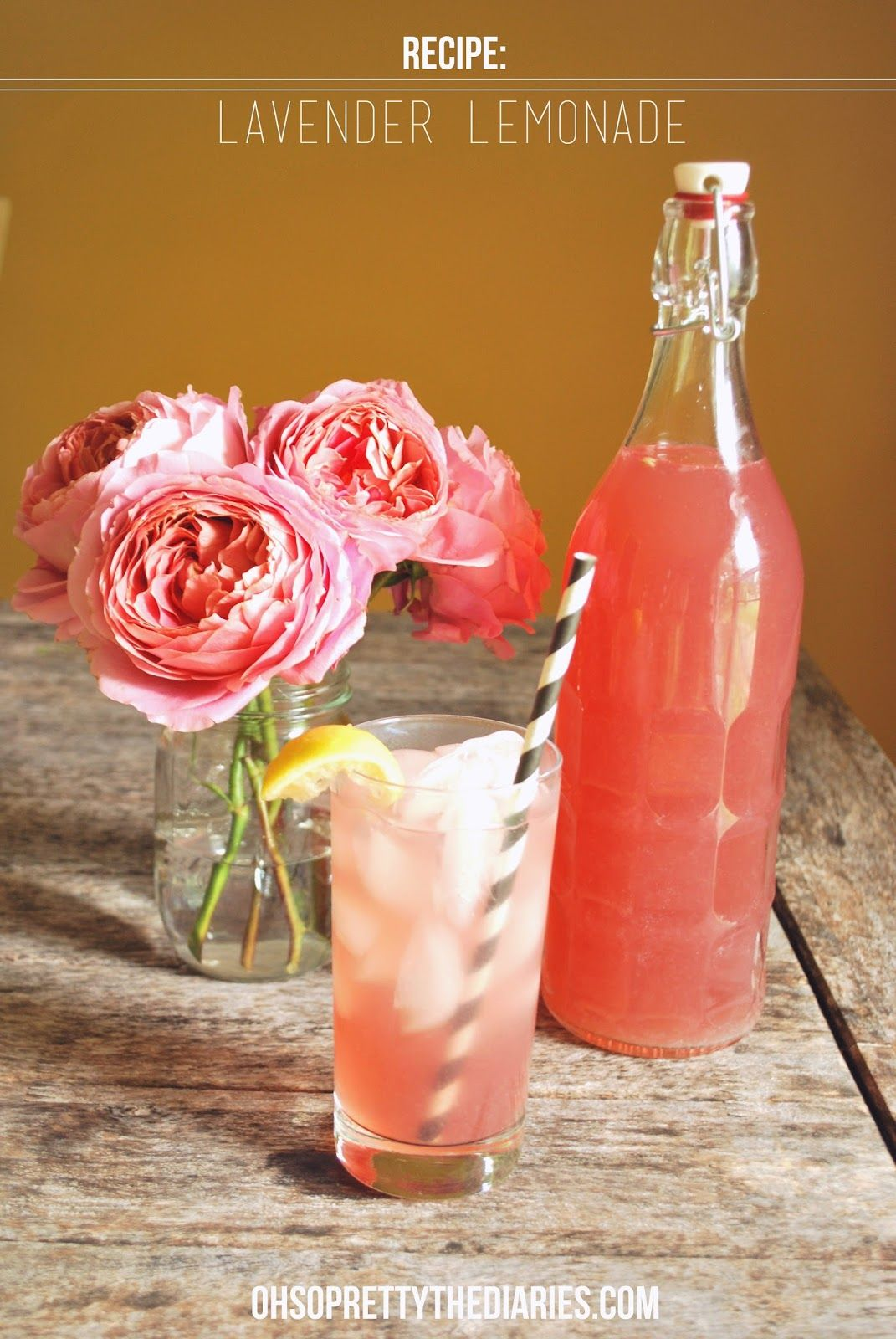 LAVENDER LEMONADE #recipe #drinks