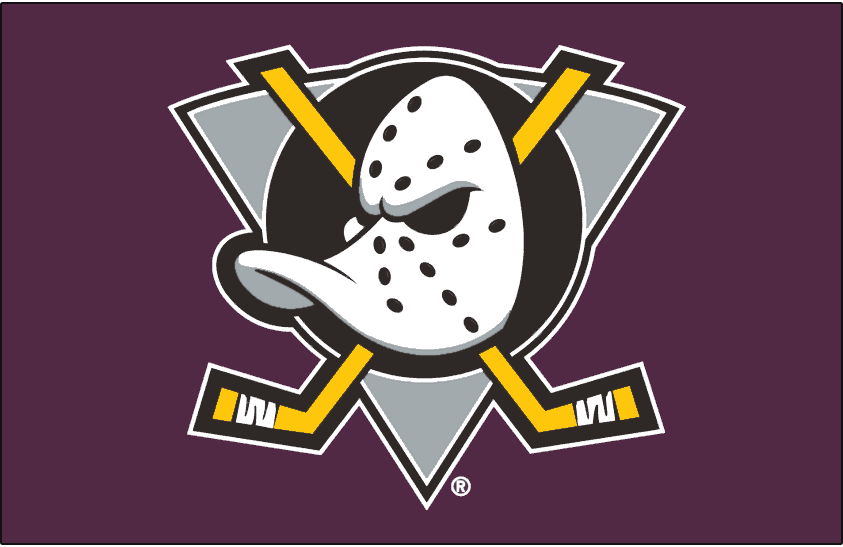 official photos bdf79 31702 Mighty Ducks of Anaheim Jersey Logo (2000) - Duck goalie ...