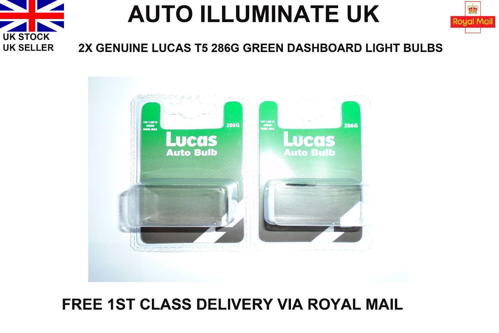 LUCAS T5 286 RED CAR INSTRUMENT PANEL SPEEDO GAUGES LIGHT BULBS LAMPS 12V 1.2W