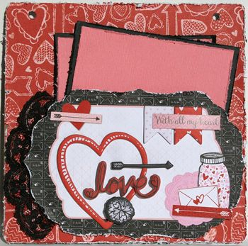 My Creative Scrapbook February Album kit created by Kristin Greenwood.