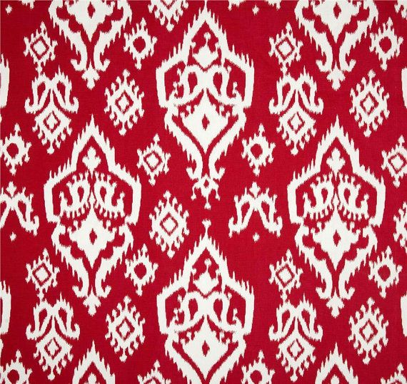Beau Gypsy Red Ikat Fabric Boho Home Decor Fabric By By CottonCircle