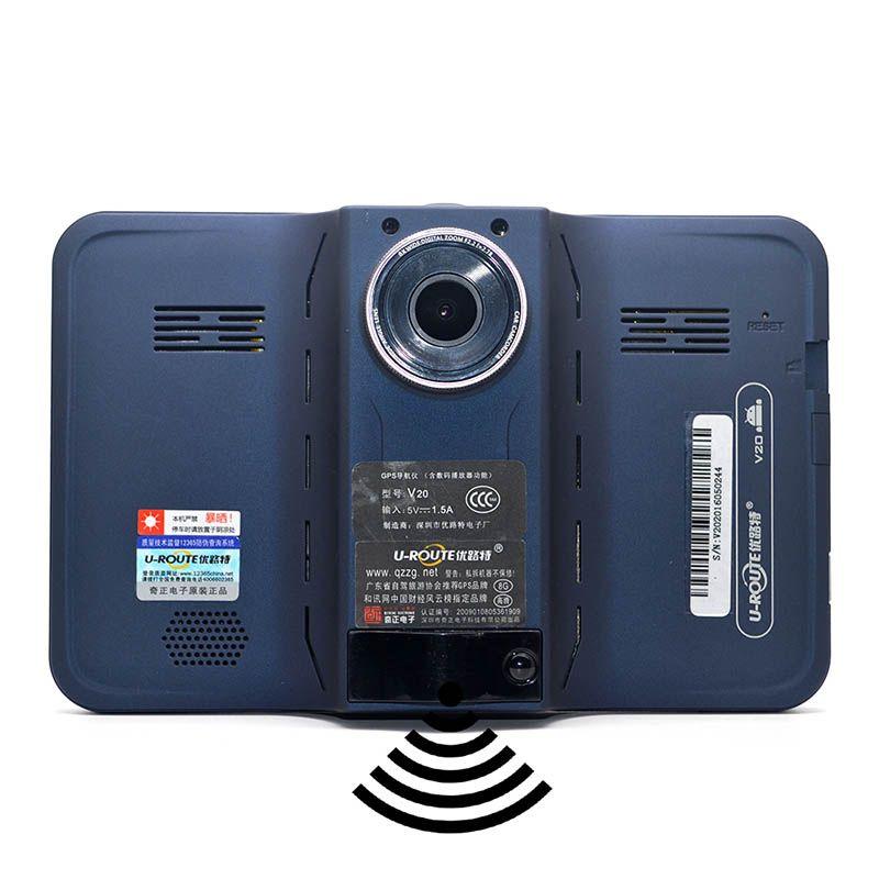 "7"" Android GPS Car Radar detector 150 degree lens DVR"