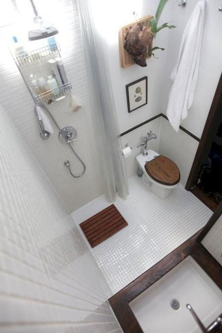 62 Awesome Small House Bathroom Shower And Tub Design Ideas With Images Tiny House Bathroom House Bathroom Designs Small Attic Bathroom