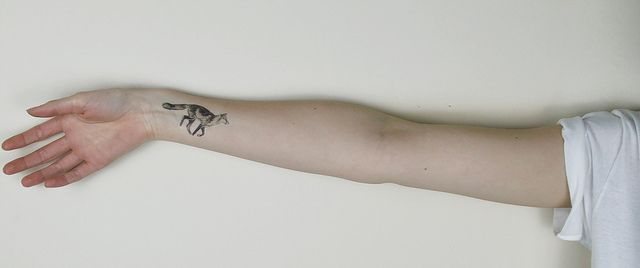 Fox tattoo Transfer by Love Raccoons, via Flickr