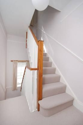 Neutral Hall Stairs Landing Decor All You See Is Grey