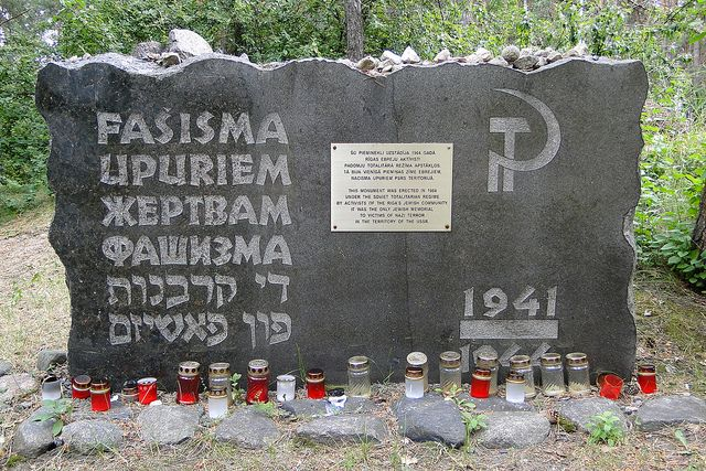 25,000 killed in one day. Never forget. Memorial Marker - Rumbula Forest Holocaust Site - Riga - Latvia by Adam Jones, Ph.D., via Flickr