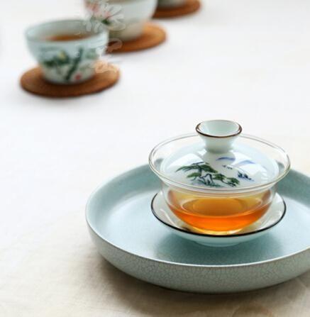 Nuova Teiera Design.Glass, Gaiwan Ceramica, Blu E Bianco Ciotola Di Porcellana Trasporto Libero All'ingrosso Da Wenvina