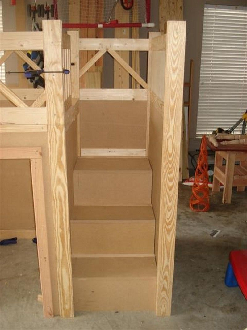 Diy Fire Truck Bunk Bed Building The Stairs