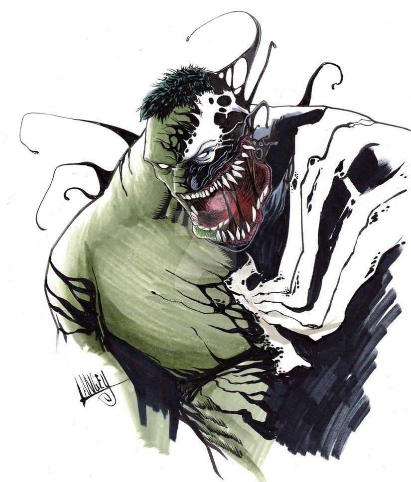 #Hulk #Fan #Art. (Hulk/Venom mashup) By:Shawn-Langley. (THE * 3 * STÅR * ÅWARD OF: AW YEAH, IT'S MAJOR ÅWESOMENESS!!!™)[THANK Ü 4 PINNING!!!<·><]<©>ÅÅÅ+(OB4E)     https://s-media-cache-ak0.pinimg.com/564x/70/ea/4f/70ea4fb54ea84fc3eacb7cd56faed6a2.jpg