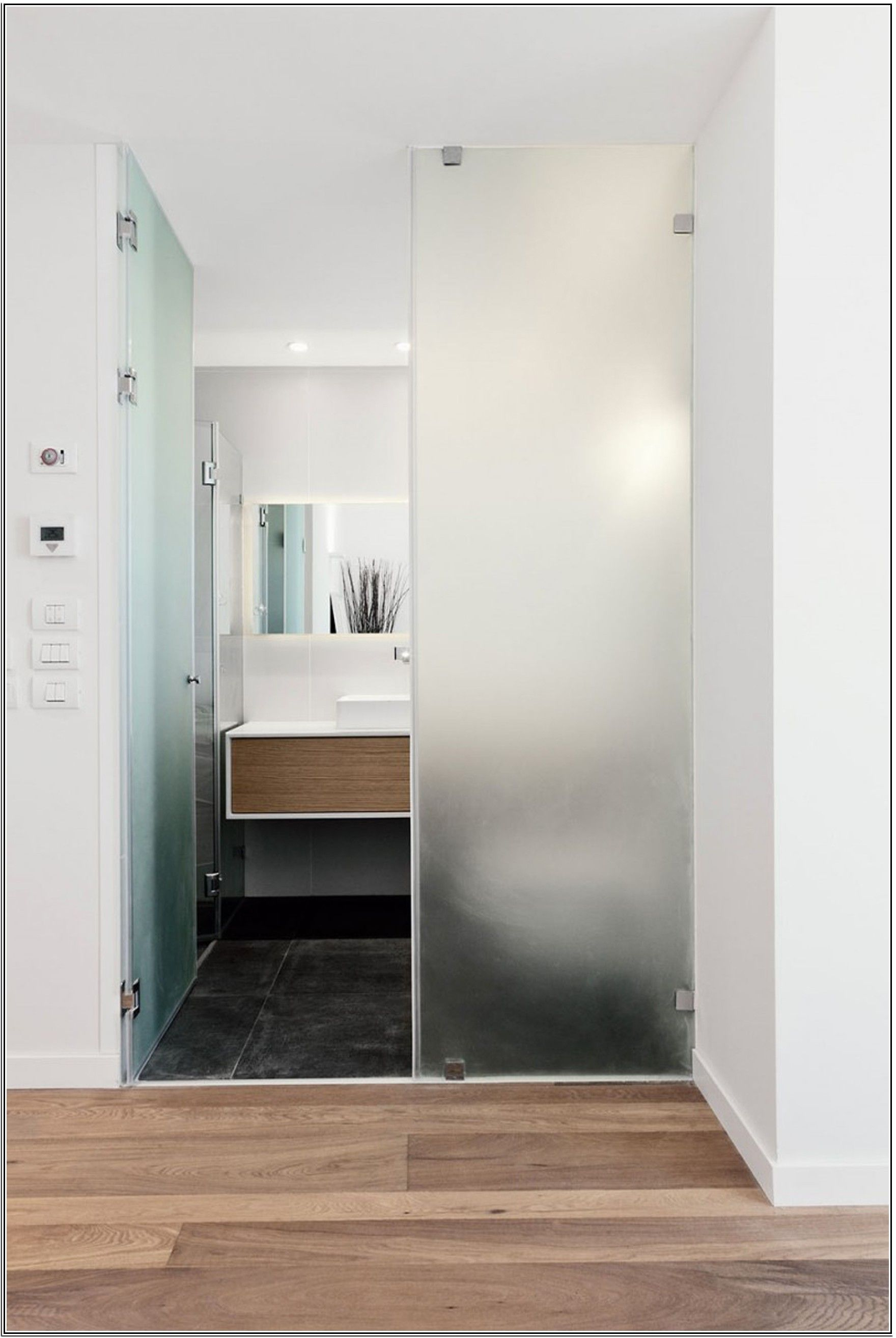 Glass Door Design Glass Bathroom Door With Frosted Glass Door Designs And  Black Tile Bathroom Floor