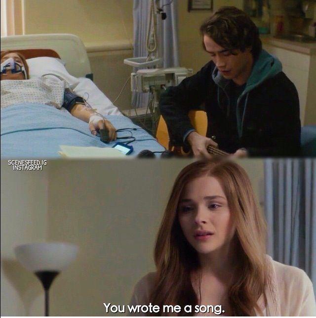 Terwijl Mia nog steeds in het ziekenhuis ligt, komt Adam langs. Hij speelt voor haar een zelfgeschreven liedje. Omdat Mia haar geest tijdens het hele verhaal ronddwaalt kon ze het liedje mee beluisteren.
