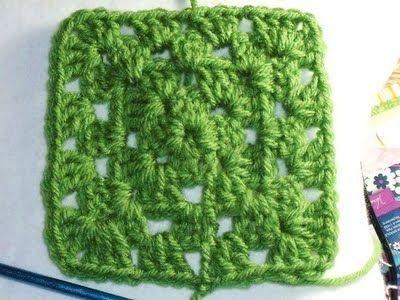 Easy Crochet Pattern Granny Square Afghan Tutorial Crochet