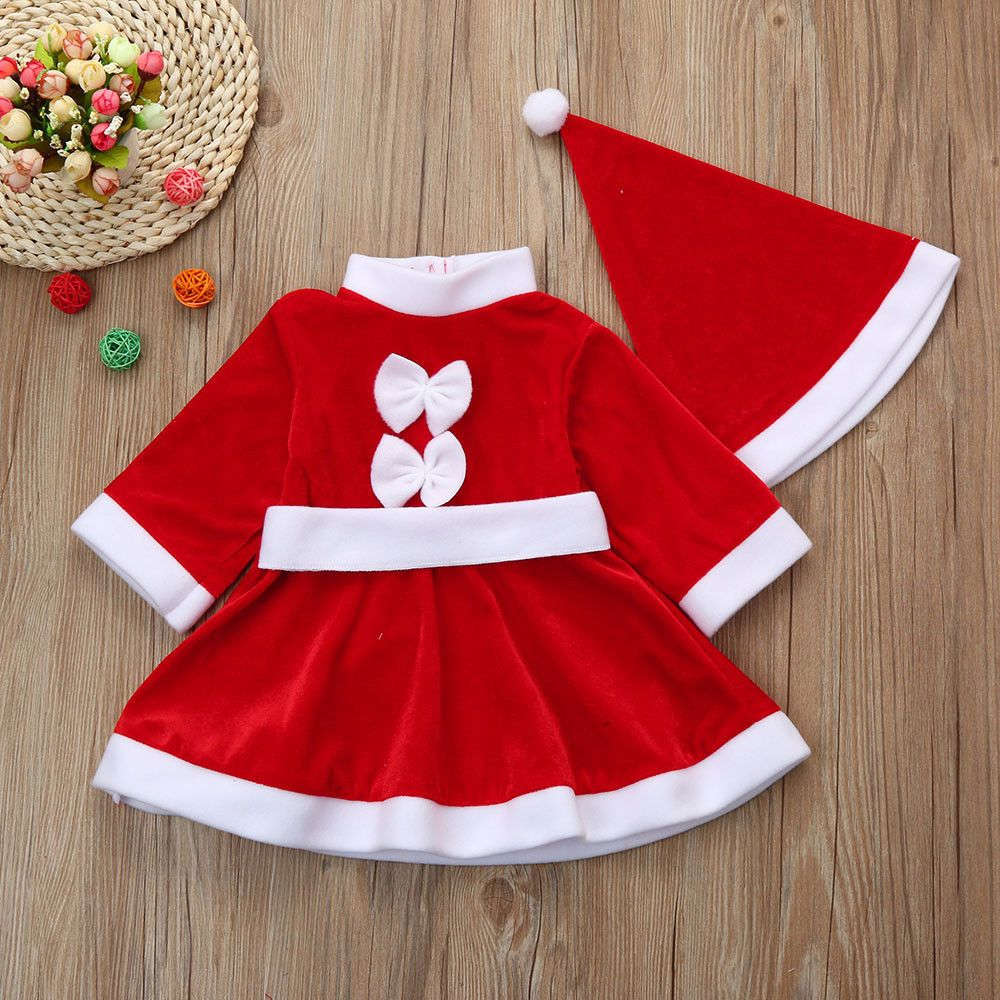 Cool Awesome Toddler Kid Baby Girl Christmas Clothes Bowknot Party Dresse Baby Girl Christmas Outfit Childrens Christmas Outfits Toddler Girl Christmas Dresses