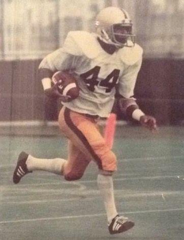 Running back a kickoff against Navy - 1980...