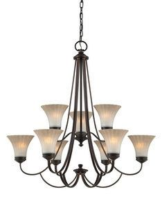 Quoizel Lighting Experts Aliza Nine Light Chandelier