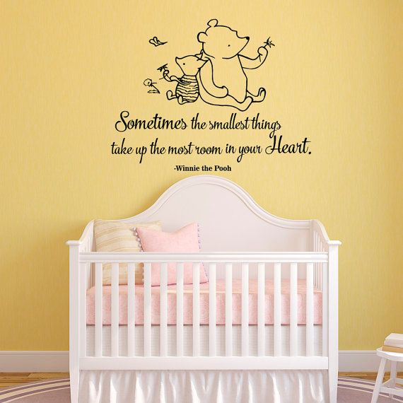 Winnie The Pooh Quote Wall Decal Sometimes The Smallest Things ...