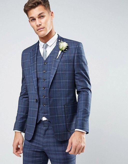 新生活☆ASOS WEDDING Slim Suit in 100% Woo フォーマルスーツ