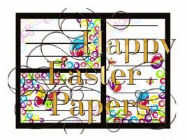 Happy Easter Paper These super cute Easter Papers are great for decorating, writing and even cutting up! There's 18 different designs. All of the sheets are different. Download the sample to see one of the sheets. 20 pages