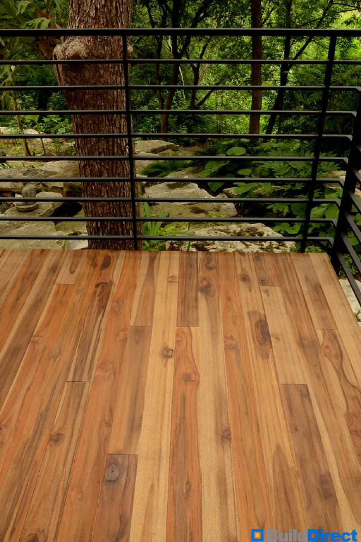 Don't be fooled! This lovely real teak hardwood flooring