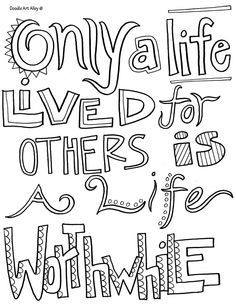 all quotes coloring pages thesew ould be cute to print and color