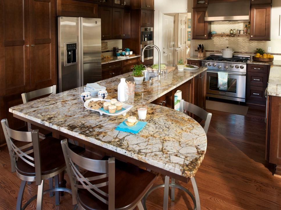 Luxury And Style Reach A Whole New Level When A Retired Couple Decides To Upgrade Unique Kitchen Countertops Kitchen Island Shapes Kitchen Island With Seating