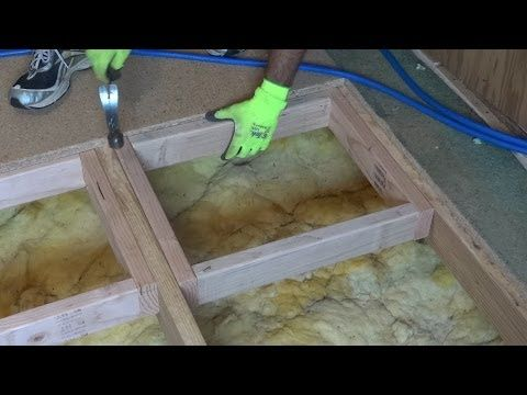 How To Repair Or Replace A Damaged Section Of Sub Floor.   YouTube