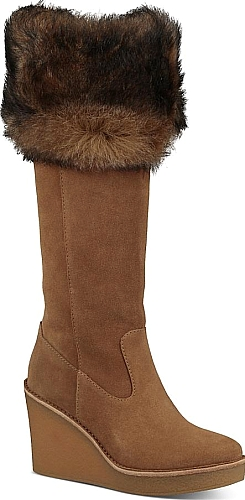 a0560aa0bb9e Ugg Women s Shoes in Chestnut Color. Ugg Women s Valberg Suede   Sheepskin  Tall Wedge Boots  Ugg  chestnut  shoes  fashion  style