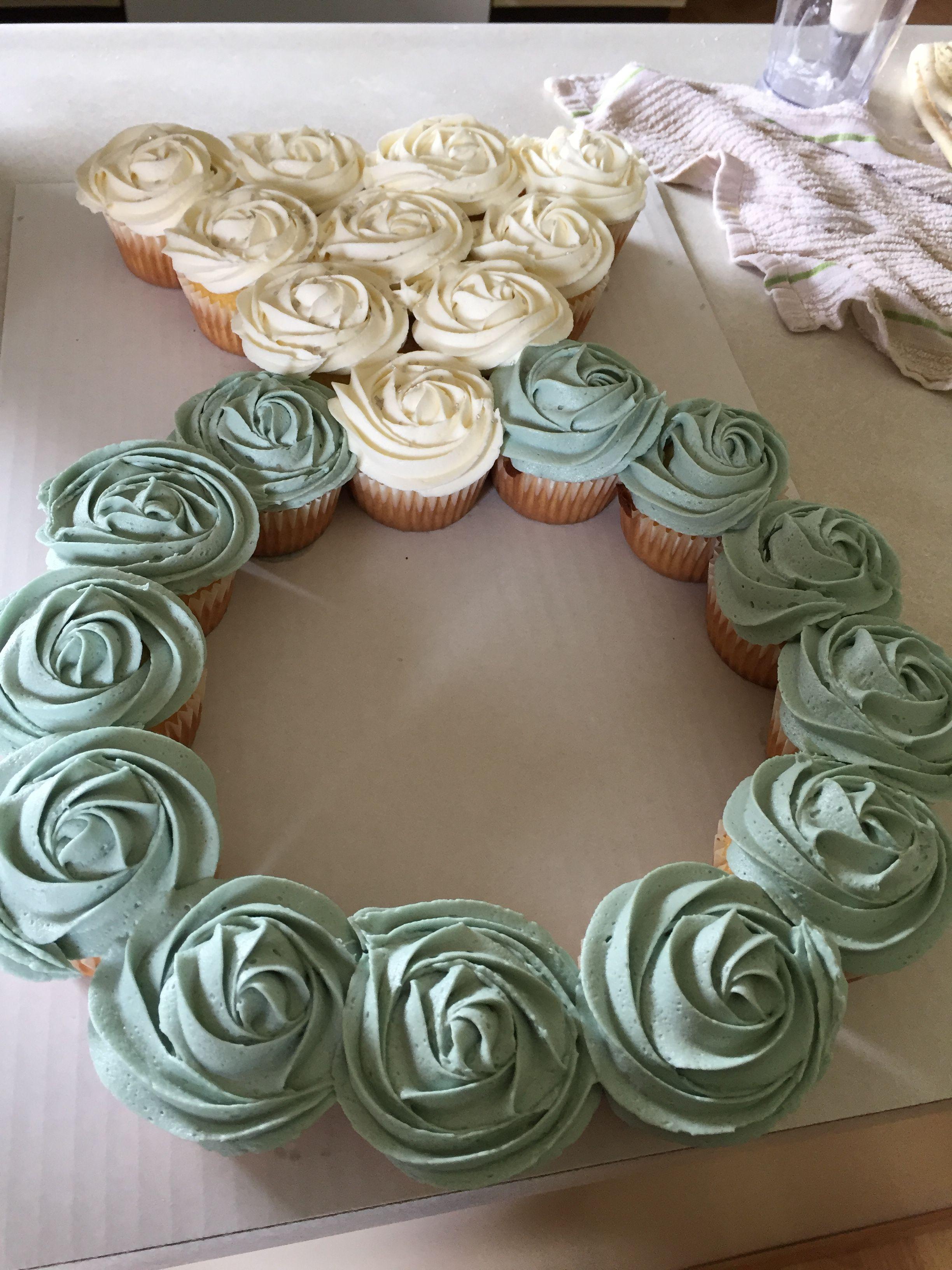Cupcake Ring Pull Apart Wedding Shower Wedding Shower Cupcakes