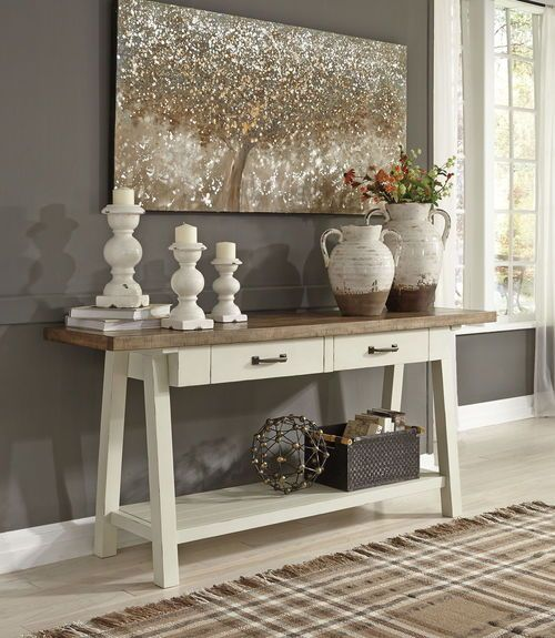 Ashley Furniture In Fresno Ca: Ashley Stownbranner Two-tone Sofa Table In 2019