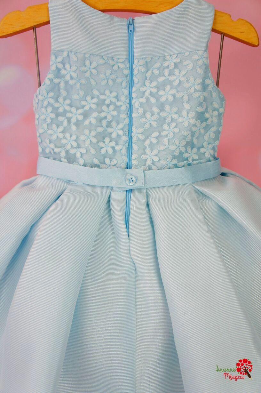 cbf6b92ec Vestido de Festa Infantil Azul Princesa Petit Cherie - Árvore Mágica ...