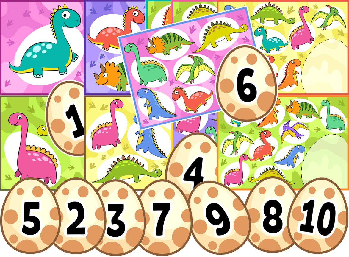 Printable Dinosaur Counting Activity For Preschool